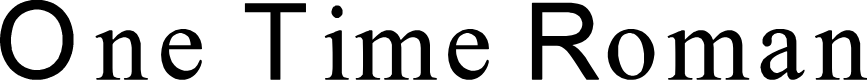 Preview image for One Time Roman Font