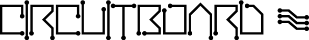 Preview image for Circuitboard Font