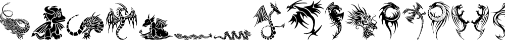 Preview image for Tribal Dragons Tattoo Designs