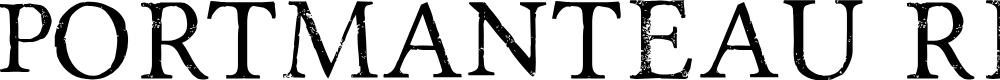 Preview image for Portmanteau Regular Font