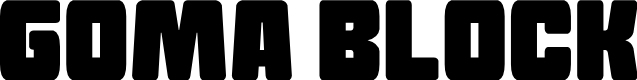 Preview image for Goma Block Font