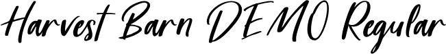 Preview image for Harvest Barn DEMO Regular Font