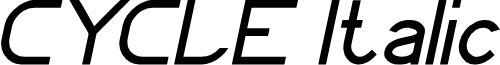 CYCLE Italic