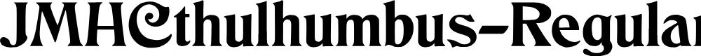 Preview image for JMHCthulhumbus-Regular Font