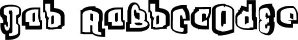Preview image for Jab Outline Font