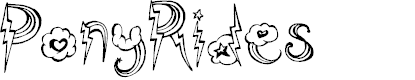 Preview image for PonyRides Font