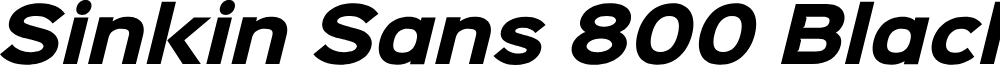 Sinkin Sans 800 Black Italic