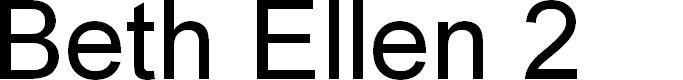 Preview image for Beth Ellen 2 Font