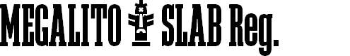 Preview image for Megalito Slab Extra Condensed Font