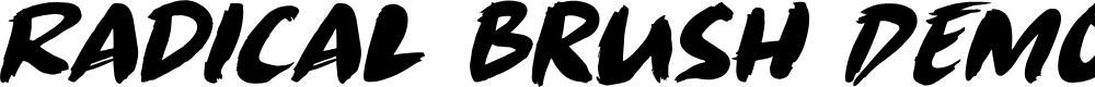 Preview image for Radical Brush DEMO Regular Font