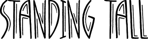 Preview image for Standing Tall Font