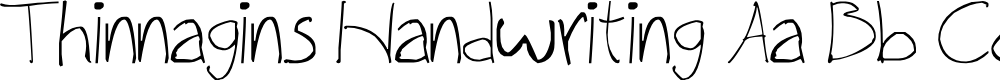 Preview image for Thinnagins handwriting Font
