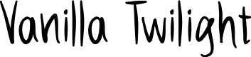 Preview image for Vanilla Twilight Font