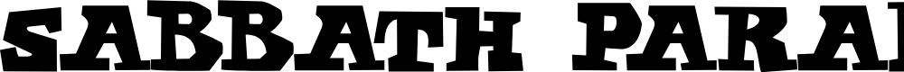 Preview image for Sabbath Paranoid Font