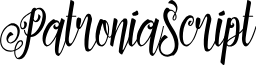 PatroniaScript font