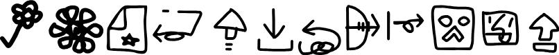 Preview image for Weird Machintosh Symbols Regular