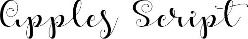 Preview image for Apples Script Font