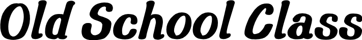 Preview image for Old School Class Font