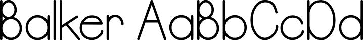 Preview image for Balker Font