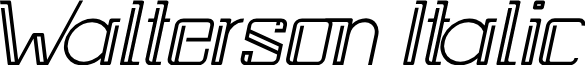 Walterson Italic