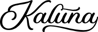 KalunaScriptDEMO font