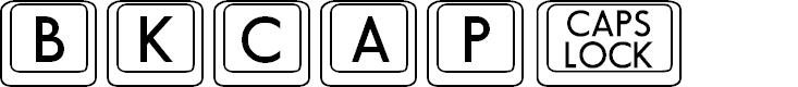 Preview image for BKCap Regular Font