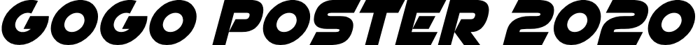 GoGo Poster 2020 Italic