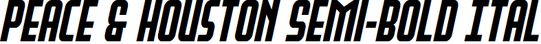 Peace & Houston Semi-Bold Ital