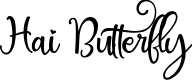 Preview image for Hai Butterfly Font