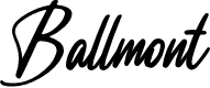 Preview image for Ballmont Font