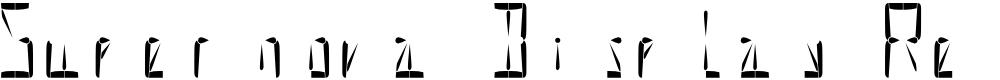 Preview image for Supernova Display Regular Font