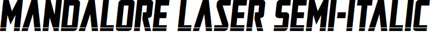 Mandalore Laser Semi-Italic