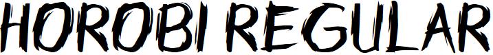Preview image for Horobi Regular Font