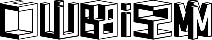 Preview image for D3 Cubism Font