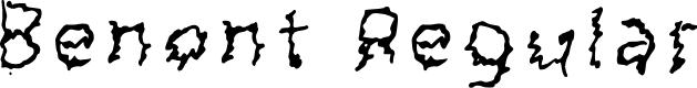 Preview image for Benont Regular Font