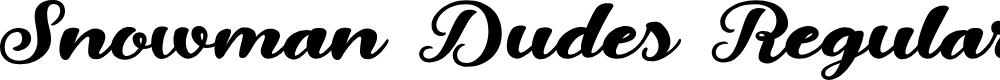 Preview image for Snowman Dudes Regular Font