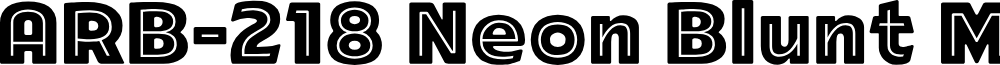 ARB-218 Neon Blunt MAR-50 Normal
