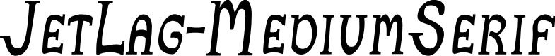 Preview image for JetLag-MediumSerif Font