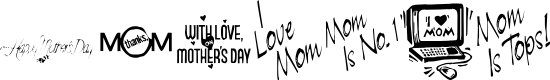 Preview image for KR Mother's Day Dings Font
