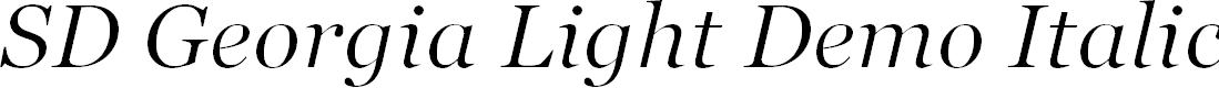 Preview image for SD Georgia Light Demo Italic Font