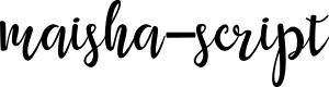 Preview image for maisha-script Font