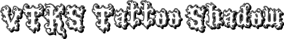 Preview image for VTKS Tattoo Shadow Font