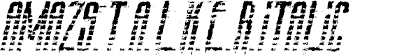Preview image for AmazS.T.A.L.K.E.R.Italic