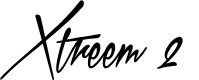 Preview image for Xtreem 2 Personal Use Font