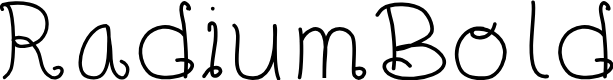 Preview image for RadiumBold Font