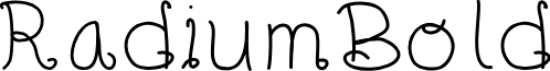 RadiumBold font