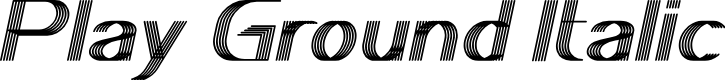 Preview image for Play Ground Italic