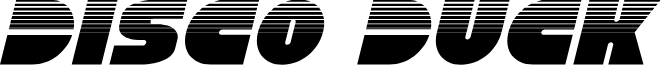 Disco Duck Halftone Italic