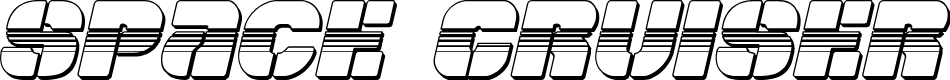 Preview image for Space Cruiser Chrome Italic