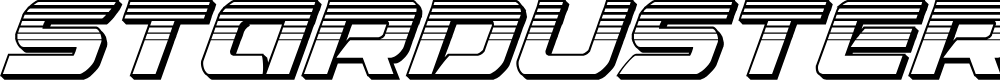 Preview image for Starduster Platinum Italic